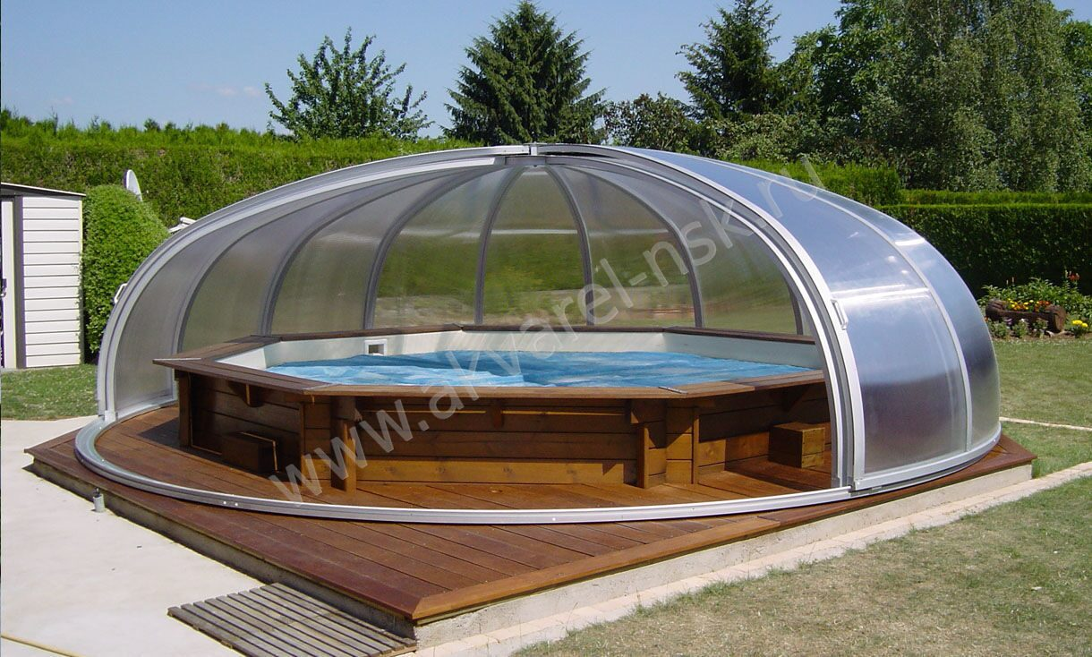 Павильон для бассейна из поликарбоната своими руками